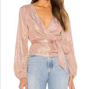 Rose gold wrap top